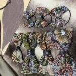 キャンドゥのゴブラン織り生地でリボンヘアゴム