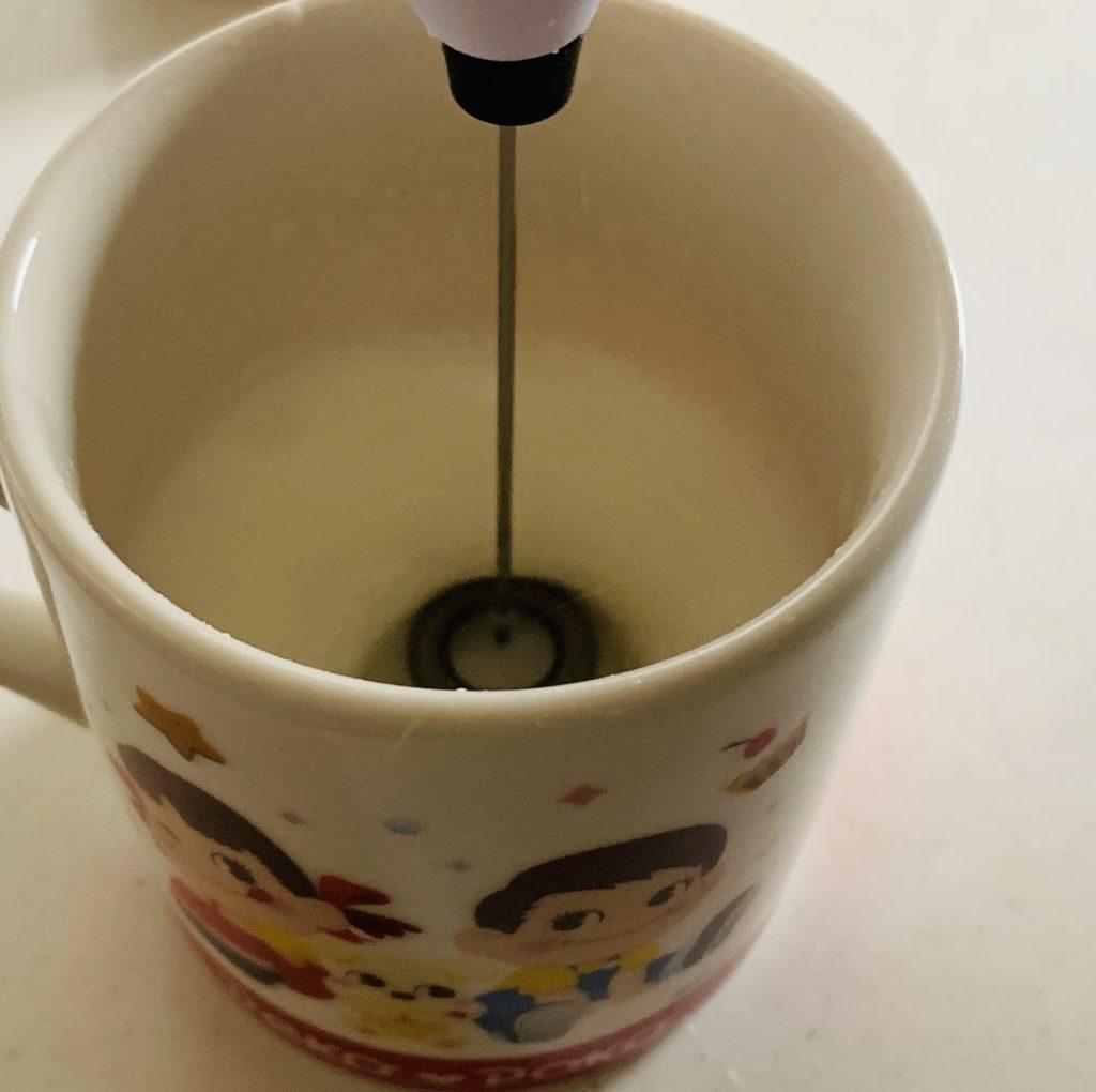 温めた牛乳